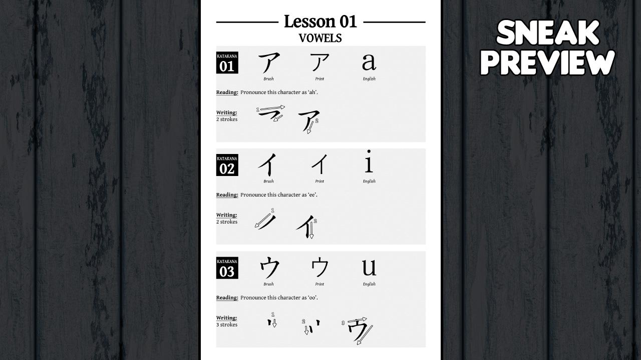 Learn Japanese To Survive! Katakana War - Study Guide