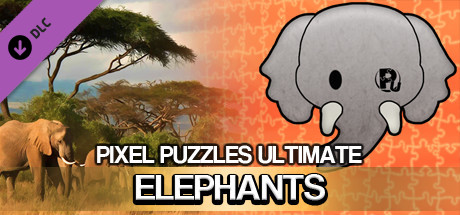 Jigsaw Puzzle Pack - Pixel Puzzles Ultimate: Elephants