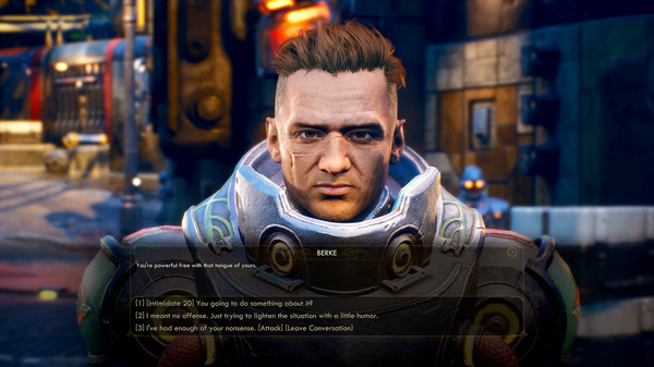 The Outer Worlds Dialogue Box