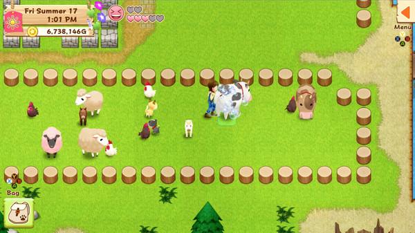 Screenshot of Harvest Moon: Light of Hope