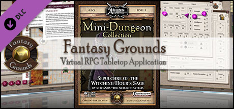 Fantasy Grounds - Mini-Dungeon #020: Sepulchre of the Witching Hour's Sage (PFRPG)