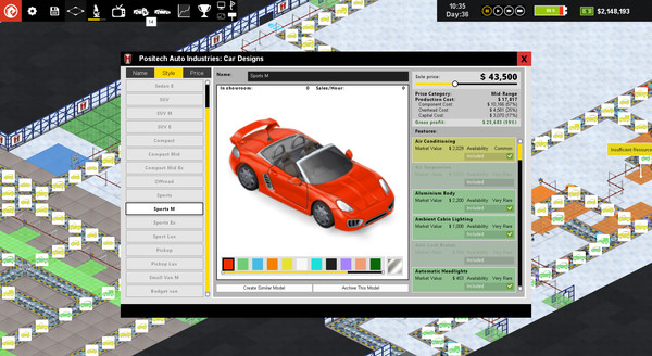 Скриншот №6 к Production Line  Car factory simulation
