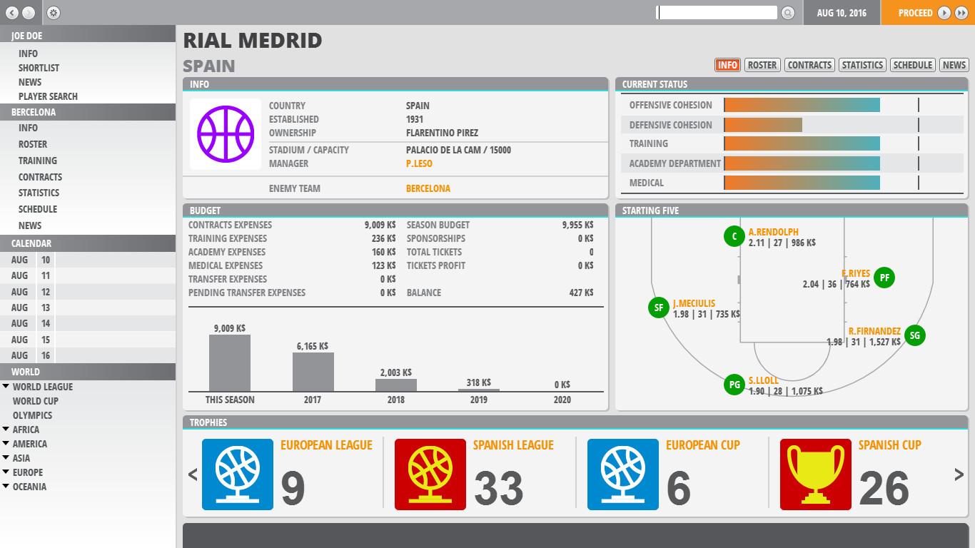 World Basketball Manager 2 Data Vyhoda