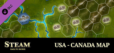 Steam: Rails to Riches - USA-Canada Map on Steam on