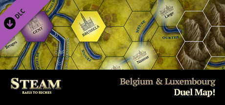Steam: Rails to Riches - Belgium & Luxembourg Map