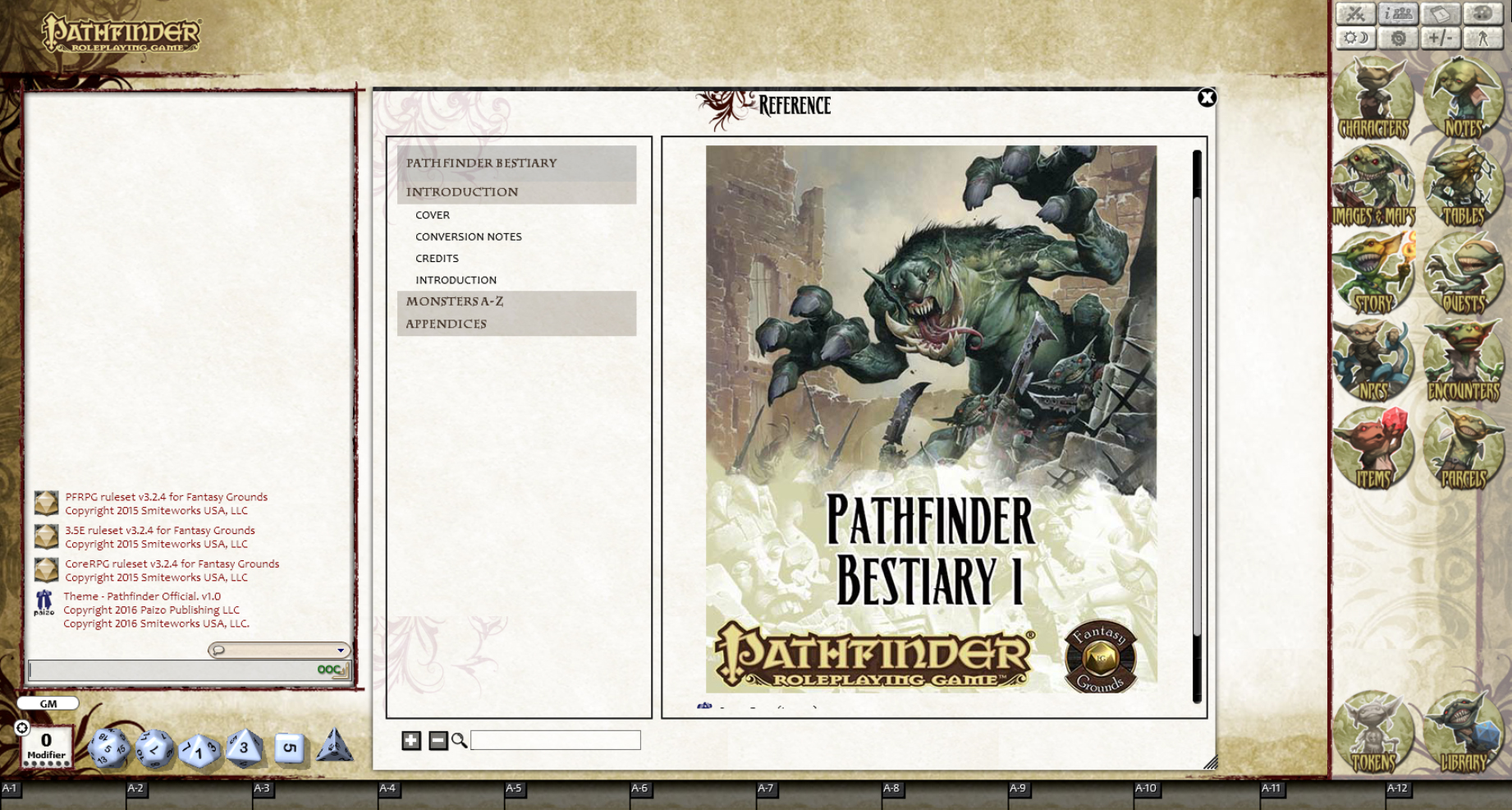 Fantasy Grounds - Pathfinder RPG - Bestiary 1 Pack (PFRPG)