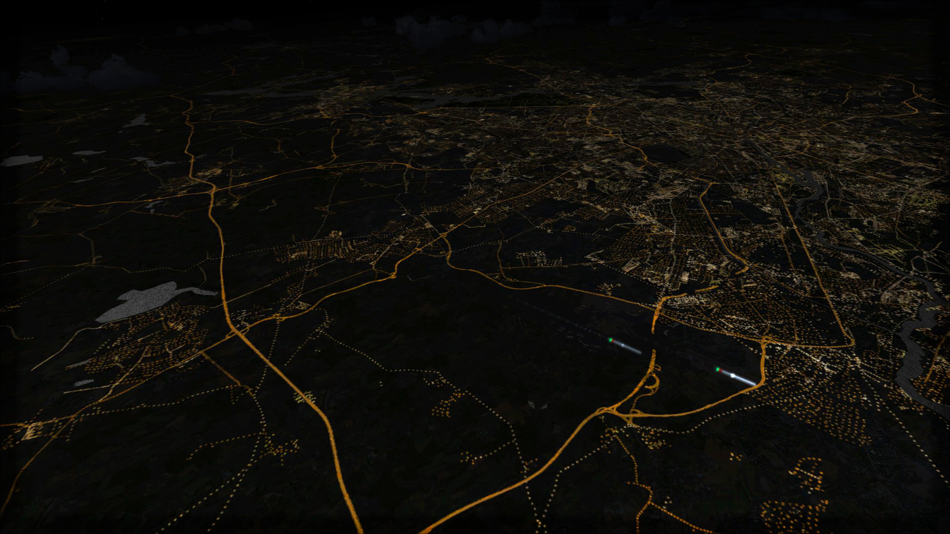 FSX Steam Edition: Night Environment: Germany Add-On