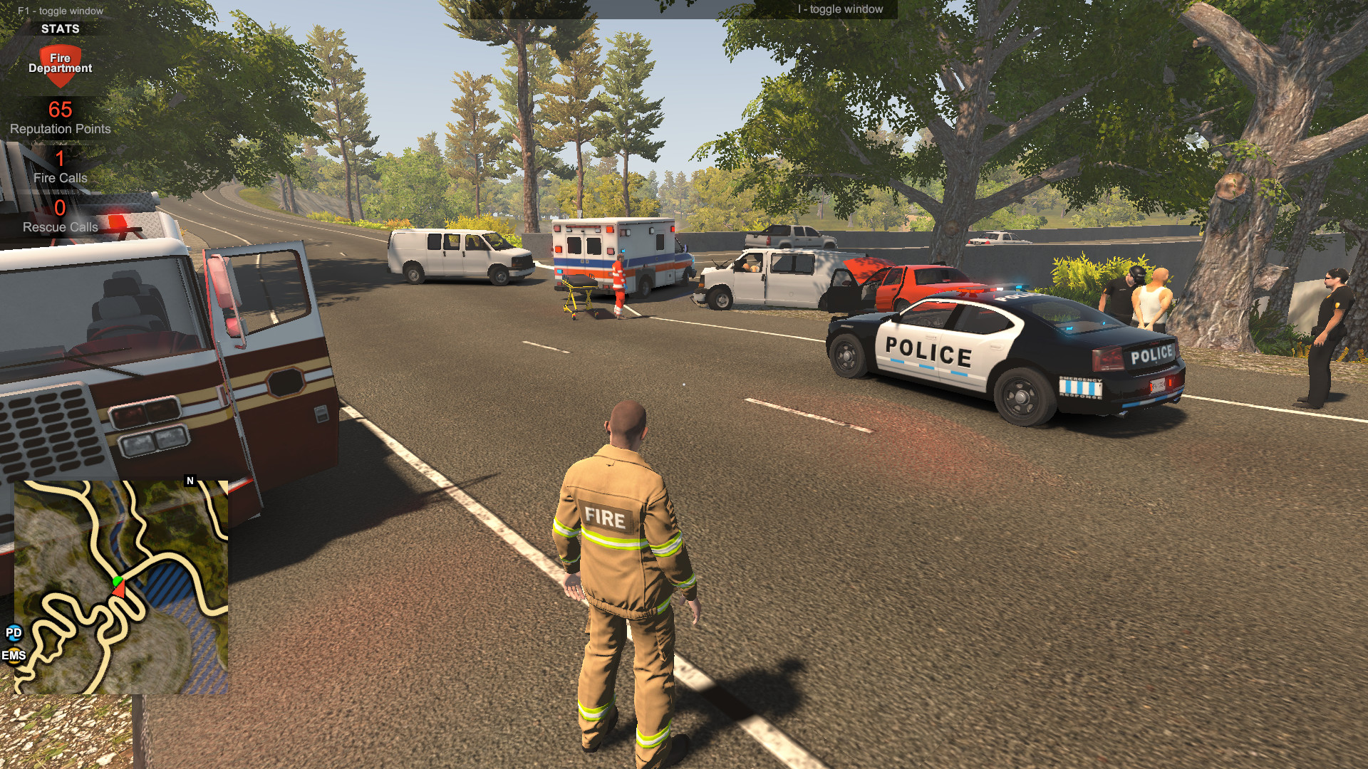 Flashing Lights - Police, Firefighting, Emergency Services Simulator  (警情,消防,急救)