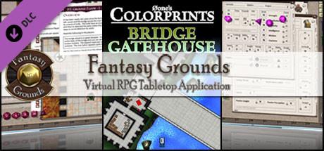 Fantasy Grounds - 0one's Colorprints #4: Bridge Gatehouse (Map Pack)