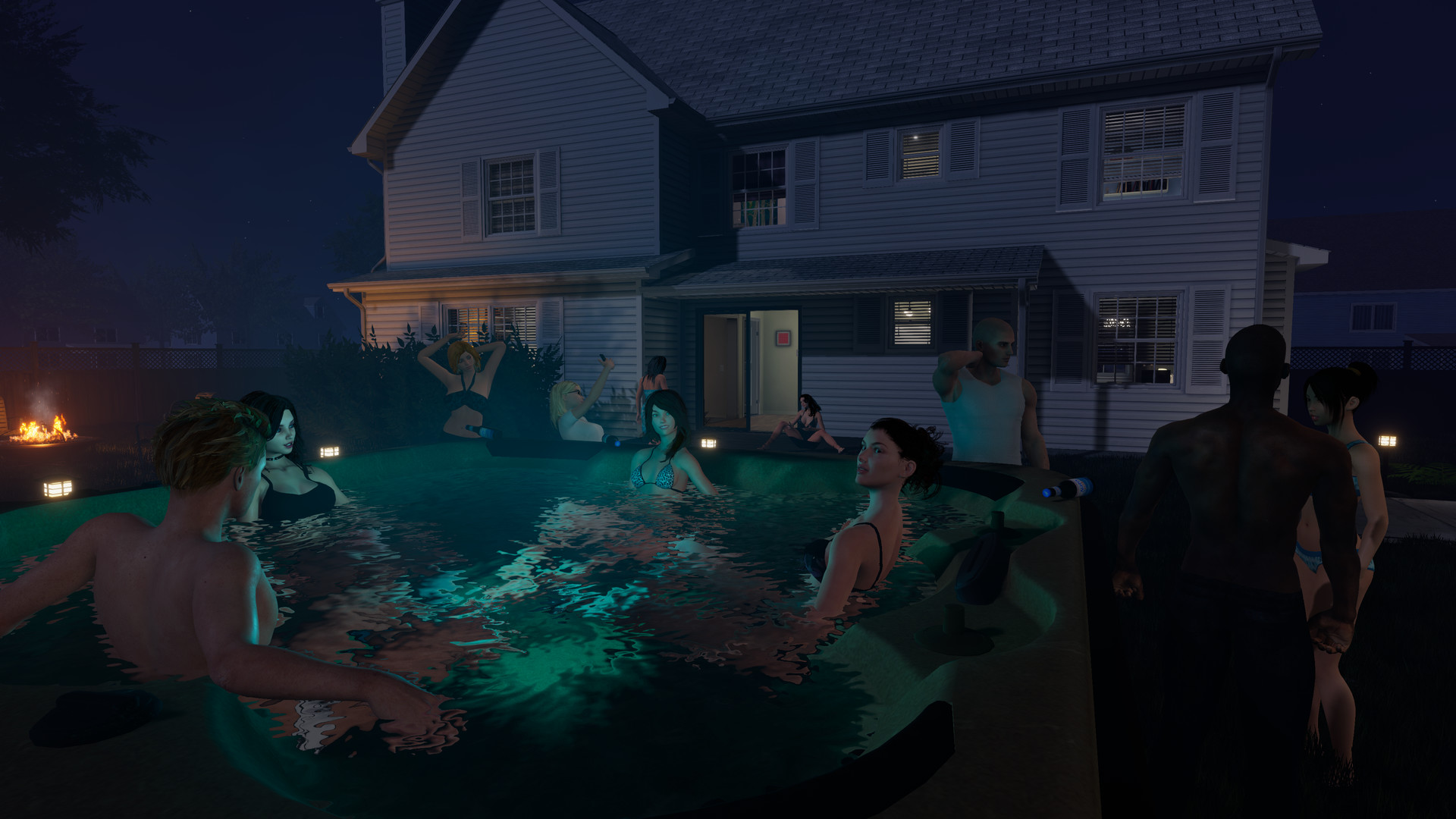 Dating simulator full walkthrough to the pool