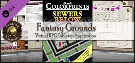 Fantasy Grounds - 0one's Colorprints #5: Sewers Below (Map Pack)