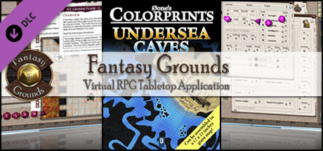 Fantasy Grounds - 0one's Colorprints #6: Undersea Caves (Map Pack)