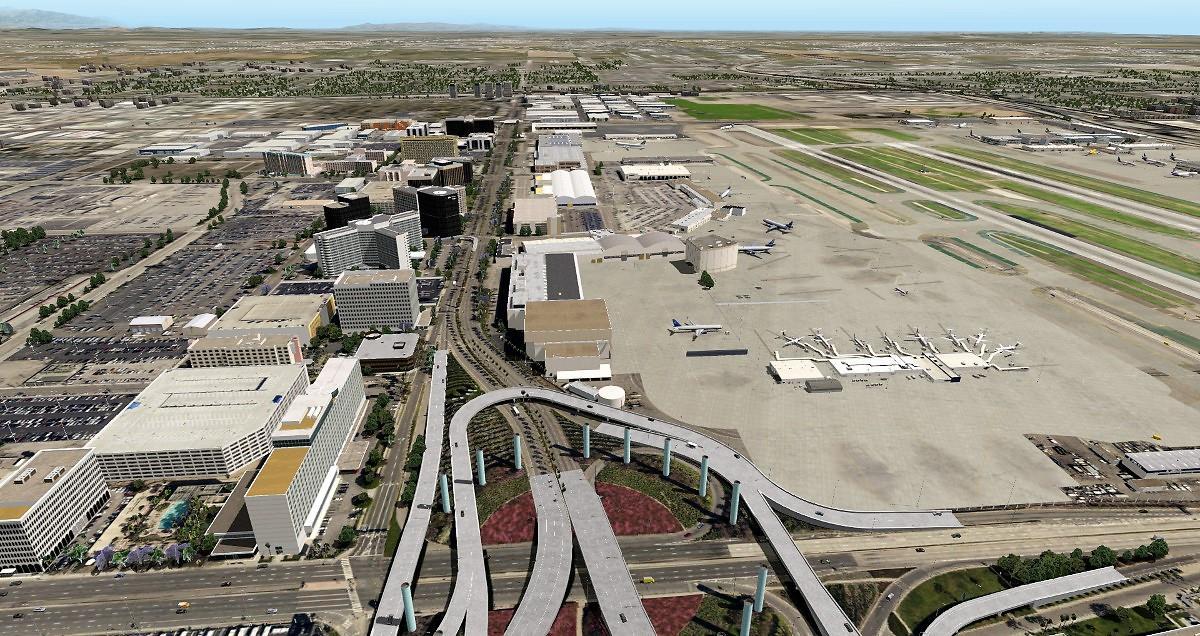X-Plane 11 - Add-on: FunnerFlight - Airport Los Angeles International V2