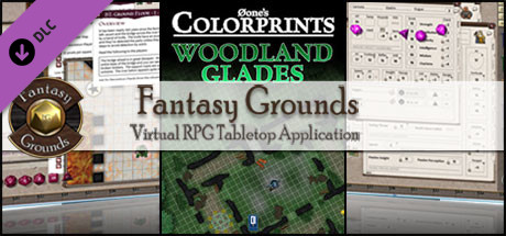 Fantasy Grounds - 0one's Colorprints #9: Woodland Glades (Map Pack)