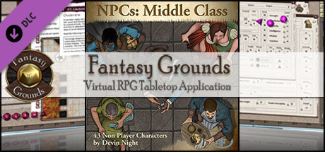Fantasy Grounds - NPCs: Middle Class (Token Pack)