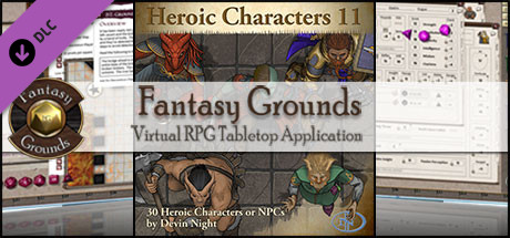 Fantasy Grounds - Heroic Characters 11 (Token Pack)