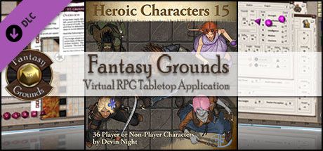 Fantasy Grounds - Heroic Characters 15 (Token Pack)