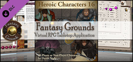 Fantasy Grounds - Heroic Characters 16 (Token Pack)