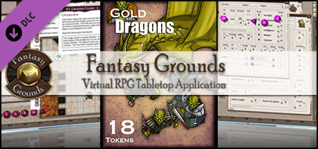 Fantasy Grounds - Gold Dragons (Token Pack)
