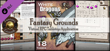 Fantasy Grounds - White Dragons (Token Pack)