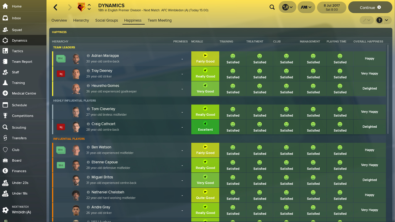 Football manager amateur club