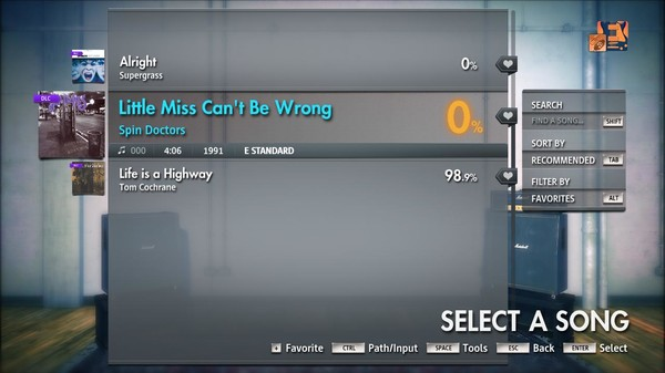 """Скриншот №4 к Rocksmith® 2014 Edition – Remastered – Spin Doctors - """"Little Miss Cant Be Wrong"""""""
