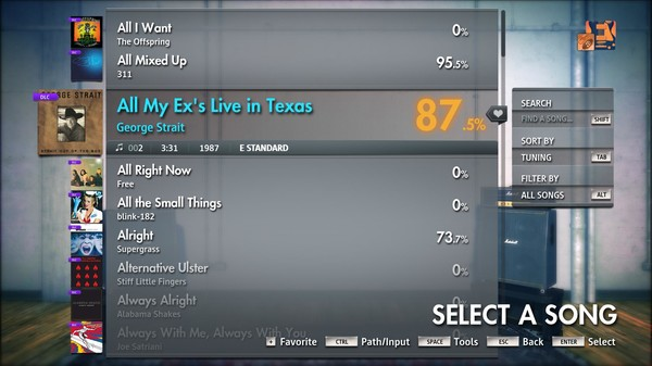 "Скриншот №4 к Rocksmith® 2014 Edition – Remastered – George Strait - ""All My Exs Live in Texas"""