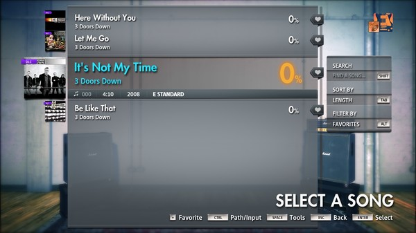 """Скриншот №4 к Rocksmith® 2014 Edition – Remastered – 3 Doors Down - """"Its Not My Time"""""""
