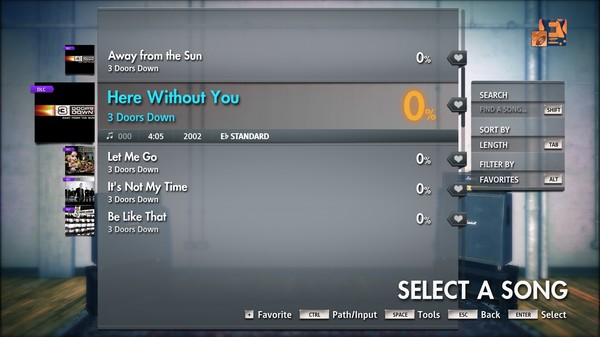 """Скриншот №1 к Rocksmith® 2014 Edition – Remastered – 3 Doors Down - """"Here Without You"""""""