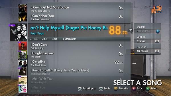"Скриншот №4 к Rocksmith® 2014 Edition – Remastered – Four Tops - ""I Cant Help Myself Sugar Pie Honey Bunch"""