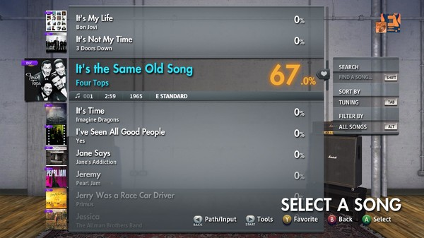 "Скриншот №3 к Rocksmith® 2014 Edition – Remastered – Four Tops - ""Its the Same Old Song"""