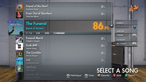 "Скриншот №1 к Rocksmith® 2014 Edition – Remastered – Band of Horses - ""The Funeral"""
