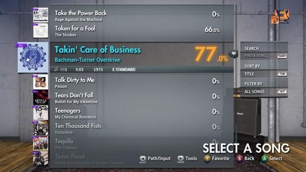 "Скриншот №2 к Rocksmith® 2014 Edition – Remastered – Bachman-Turner Overdrive - ""Takin' Care of Business"""