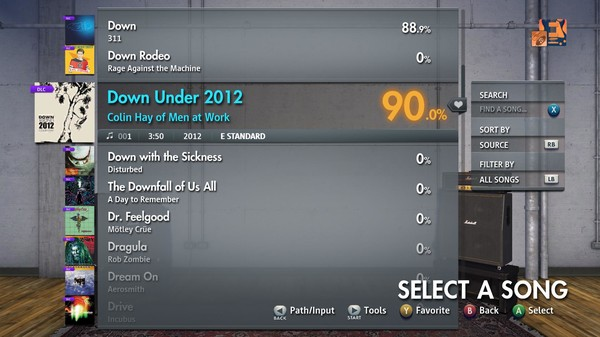 "Скриншот №1 к Rocksmith® 2014 Edition – Remastered – Colin Hay of Men at Work - ""Down Under 2012"""