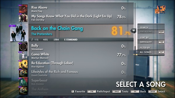 """Скриншот №5 к Rocksmith® 2014 Edition – Remastered – The Pretenders - """"Back on the Chain Gang"""""""