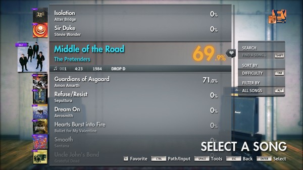 """Скриншот №4 к Rocksmith® 2014 Edition – Remastered – The Pretenders - """"Middle of the Road"""""""