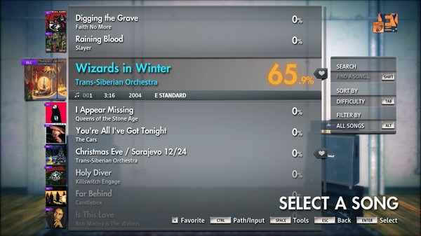 "Скриншот №2 к Rocksmith® 2014 Edition – Remastered – Trans-Siberian Orchestra - ""Wizards in Winter"""