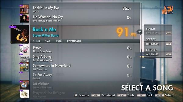 "Скриншот №4 к Rocksmith® 2014 Edition – Remastered – Steve Miller Band - ""Rockn Me"""