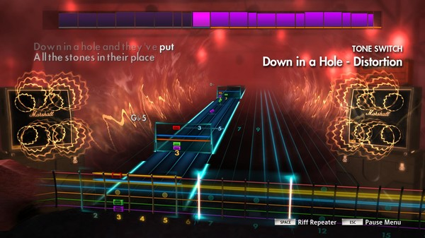 "Скриншот №5 к Rocksmith® 2014 Edition – Remastered – Alice in Chains - ""Down in a Hole"""