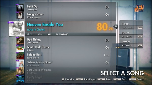 """Скриншот №4 к Rocksmith® 2014 Edition – Remastered – Alice in Chains - """"Heaven Beside You"""""""