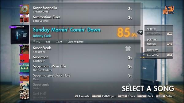"Скриншот №1 к Rocksmith® 2014 Edition – Remastered – Johnny Cash - ""Sunday Mornin Comin Down"""