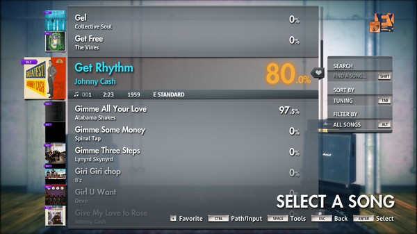 "Скриншот №2 к Rocksmith® 2014 Edition – Remastered – Johnny Cash - ""Get Rhythm"""