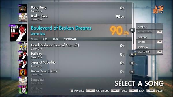 "Скриншот №2 к Rocksmith® 2014 Edition – Remastered – Green Day - ""Boulevard of Broken Dreams"""