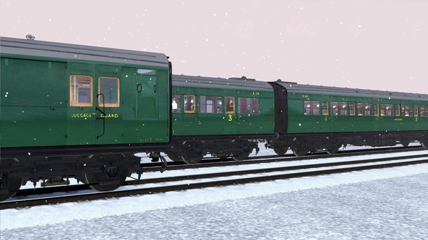 скриншот TS Marketplace: Maunsell 59ft Low Window Corridor Coach Pack Southern Malachite Green 2