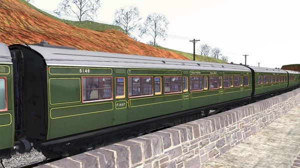скриншот TS Marketplace: Maunsell 59ft Low Window Corridor Coach Pack Southern Olive Green 3