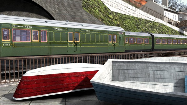 скриншот TS Marketplace: Maunsell 59ft Low Window Corridor Coach Pack Southern Olive Green 5