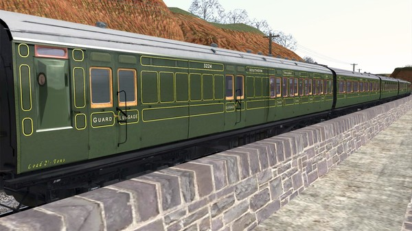 скриншот TS Marketplace: Maunsell 59ft Low Window Corridor Coach Pack Southern Olive Green 2