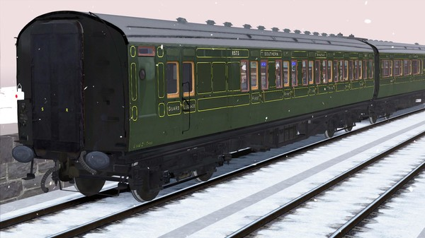 скриншот TS Marketplace: Maunsell 59ft Low Window Corridor Coach Pack Southern Olive Green 1