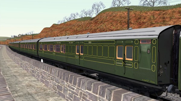 скриншот TS Marketplace: Maunsell 59ft Low Window Corridor Coach Pack Southern Olive Green 4