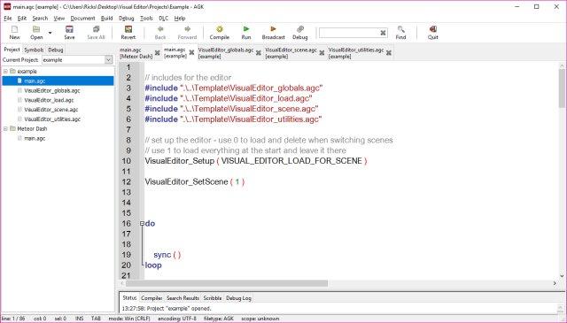 AppGameKit Classic - Visual Editor
